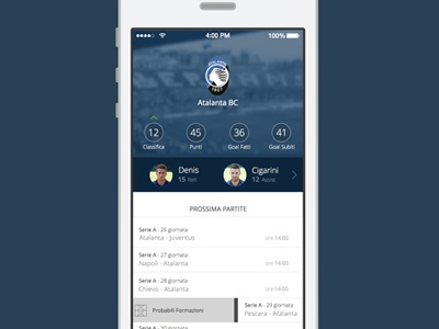 Atalanta IOS7 iphone app apple ios7 ui ux football free sketch