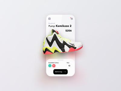 Sneakers ecommerce - Mobile App reebok design ux store store app online shop online store ui sneaker shoes ecommerce mobile app mobile