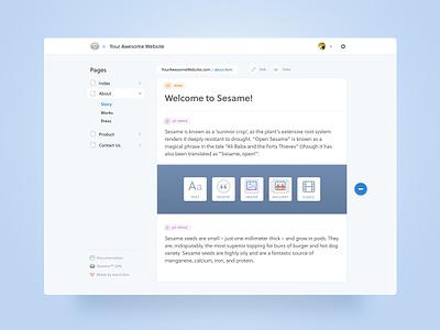 Sesame icons app interface cms ui