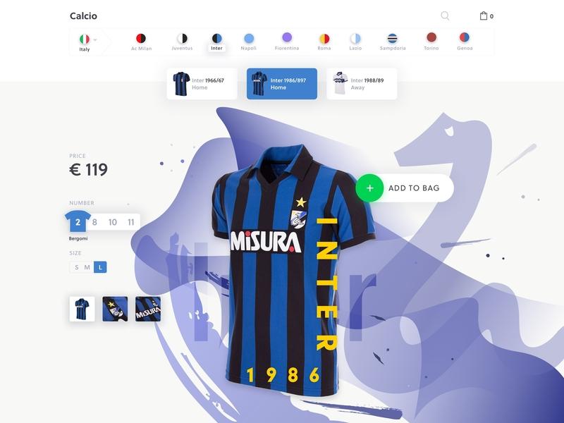 Jersey eCommerce - Inter typography ui minimal inter football ecommerce shop vintage jersey
