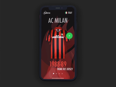 Milan Mobile Prototype devil flames ecommerce shop jersey football framer classic framer prototype animation iphone app ios mobile milan