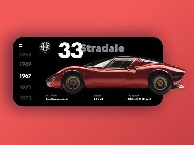 Alfa Romeo 33 Stradale prototype vintage car alfa romeo