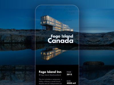 Fogo Island Inn iphone canada