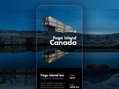 Fogo Island Inn iphone canada