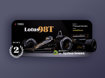 Lotus 98T - Senna