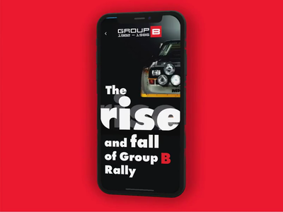 Group B Rally audi car intro glitch iphone framer classic framer animation
