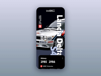 WRC GroupB animation framer classic framer animation iphone audi lancia car wrc