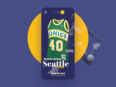 E-commerce 🏀 jersey animation ecommerce basket animation framer nba iphone mobile