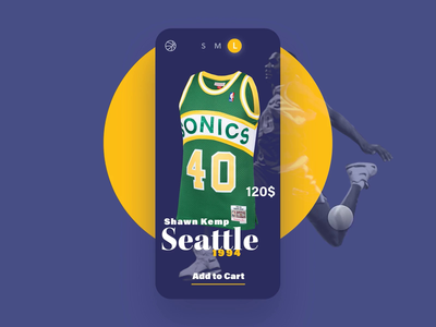 E-commerce 🏀 jersey animation