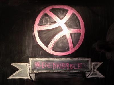 DC Dribbble Chalk Art chalk chalk art dc dribbble meetup dc design