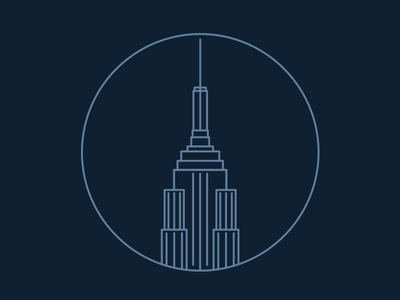 New York, New York icon illustration line icons vector empire state building new york city new york nyc blue