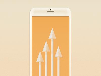 Arrow Phone phone texture arrows iphone illustration