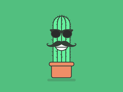 🌵Cactus Man 🌵 character vector green illustration cactus