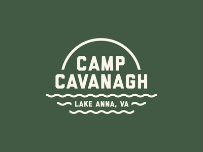 Camp Cavanagh family outdoors lake beer koozie logo