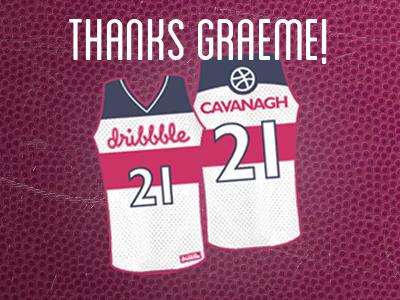 Thanks Graeme! thanks debut jersey dribbble rookie