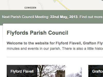 Parish Council Site map tag website
