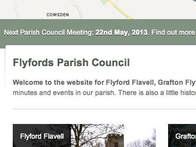 Parish Council Site map tag website