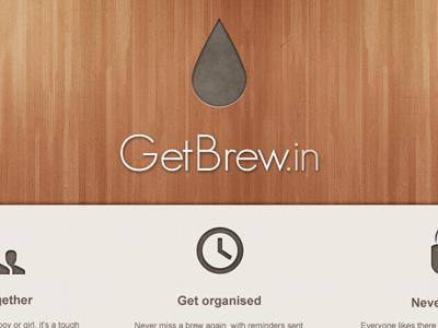 Get Brewin drink coffee tea brew wood