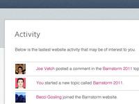 Social Web App Activity