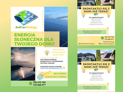 Leaflet PV company branding illustration design leaflet design leaflet
