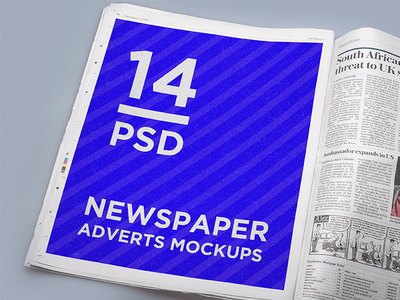 14 Newspaper Adverts Mockups