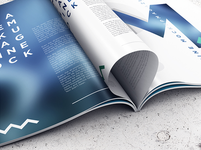 A4 Magazine / Booklet Mockup Vol. 1 booklet catalog catalogue cover free mag magazine mockup mock-up opened psd