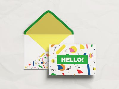 Postcard with Envelope MockUp
