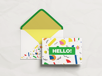 Postcard with Envelope MockUp greeting brochure postcard envelope invitation mock up mockup free