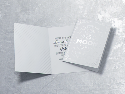 Invitation & Greeting Card Mockup stationery wedding bifold envelope brochure free psd mock-up mock up mockup greeting card invitation