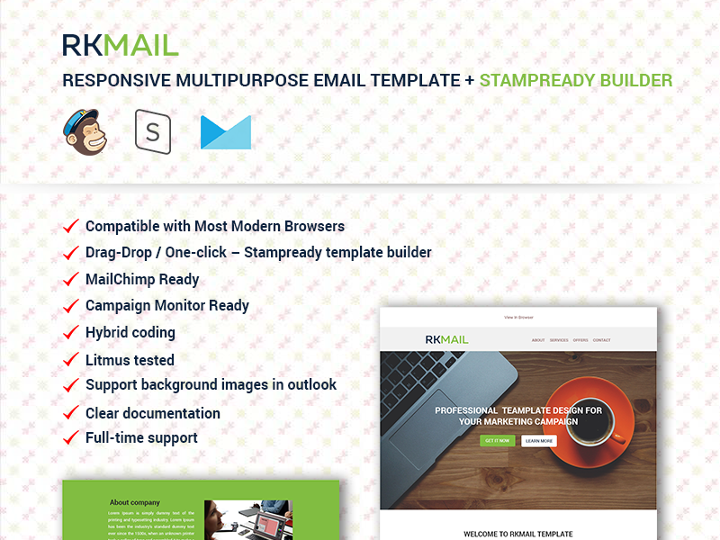 Responsive Multipurpose Email Template Stampready Builder By - Hybrid email template