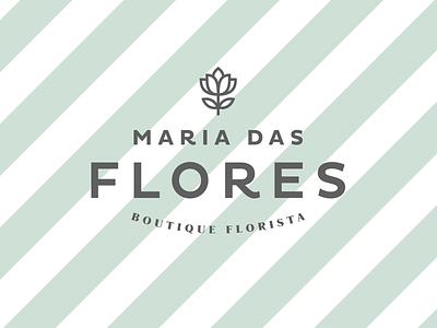 Maria das Flores — Logo florist visual identity identity logo