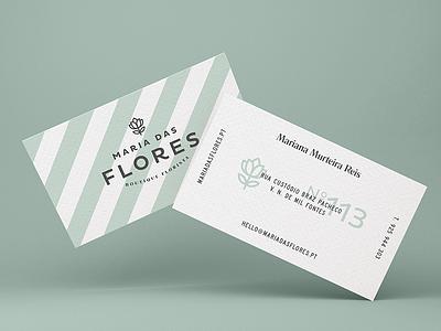 Maria das Flores — Business Card business card florist visual identity identity logo