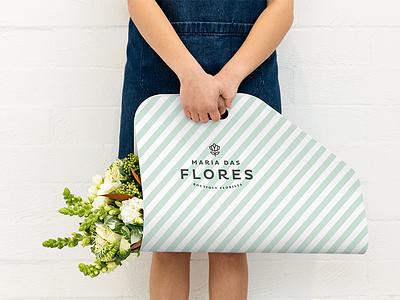 Maria das Flores - Flower Carrier flower carrier florist visual identity identity logo