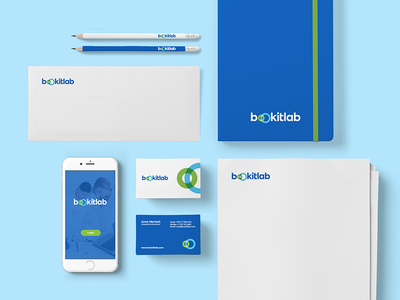 Bookitlab — Stationery scheduling equipment lab saas software logotype branding visual identity identity logo