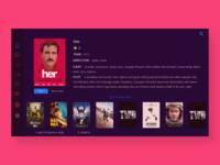 Movie app UI/UX for TV