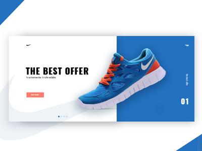 Nike UI, product page