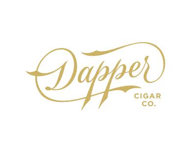 Dappercigar logo type typography script cigars vintage