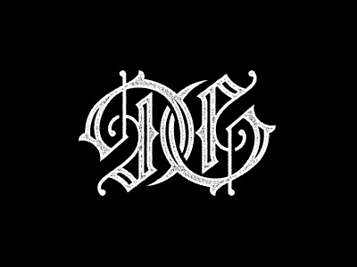 Dan Gretta monogram blackletter ambigram logo
