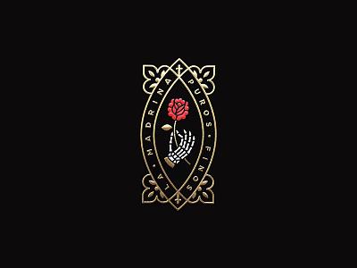 LM 2 rose hand skeleton foil gold label band tobacco cigar madrina la