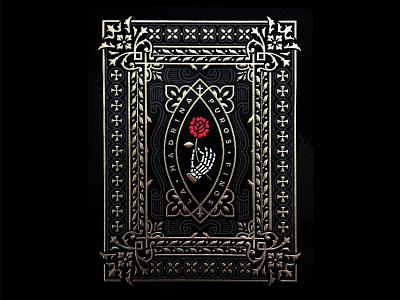 LM Label rose hand skeleton foil gold label band tobacco cigar madrina la