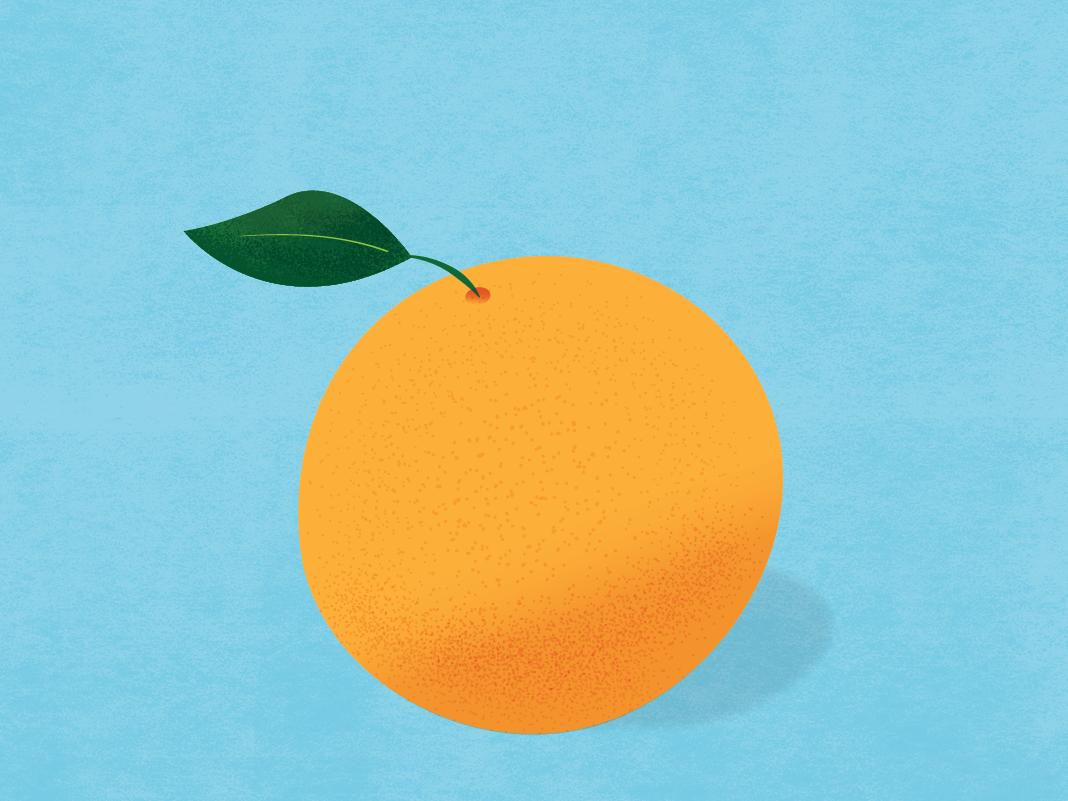 Orange blue orange illustration