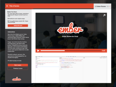 Training App Interface app ember red player