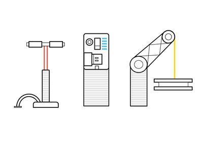 Machine Icon Iteration icon machine pump bicycle pump processor crane