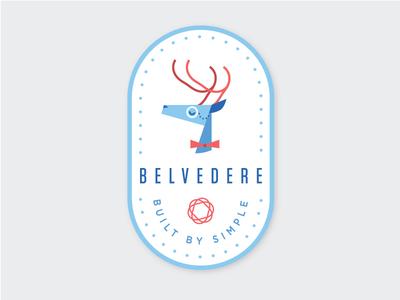 Belv The Deer Icon winter christmas holiday badge antler logo sticker icon butler deer