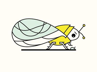 Bug Squasher smash cicada icon code illustration bug