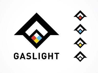 Gaslight Logo gaslight logo flame triangle code icon