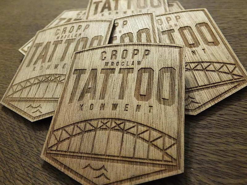 CROPP Tattoo Konwent tattoo ink logo logos graphic slovakia cropp konwent poland wood