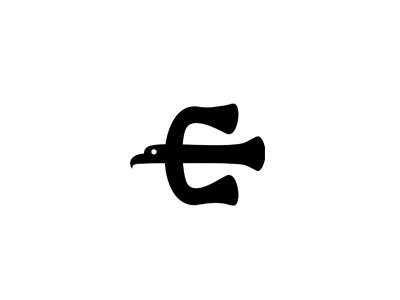 Eagle E Letter Logo Design