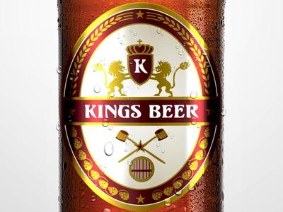 Kings Beer Bottle Design