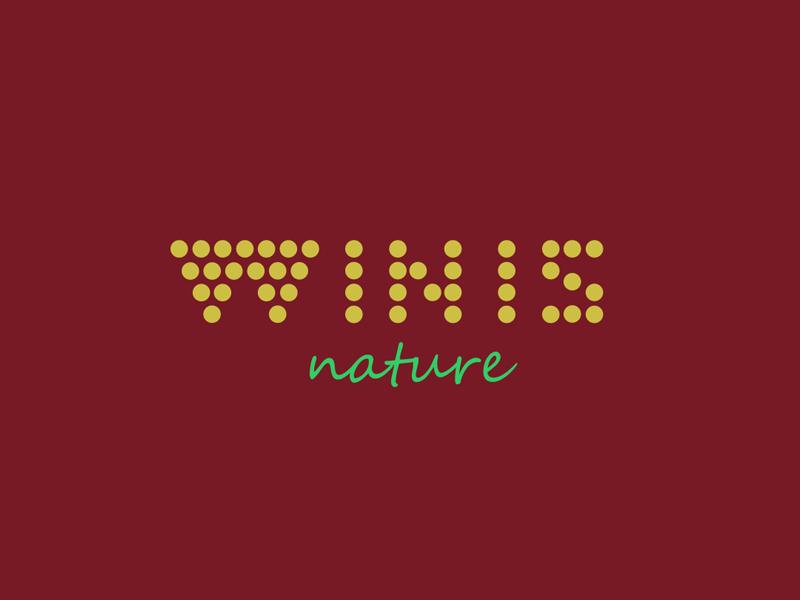 Winis Nature Drink winis winis nature vino logo design nature grape grapes